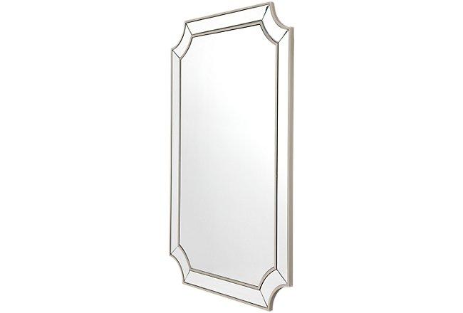 Mica Silver Mirrored Mirror