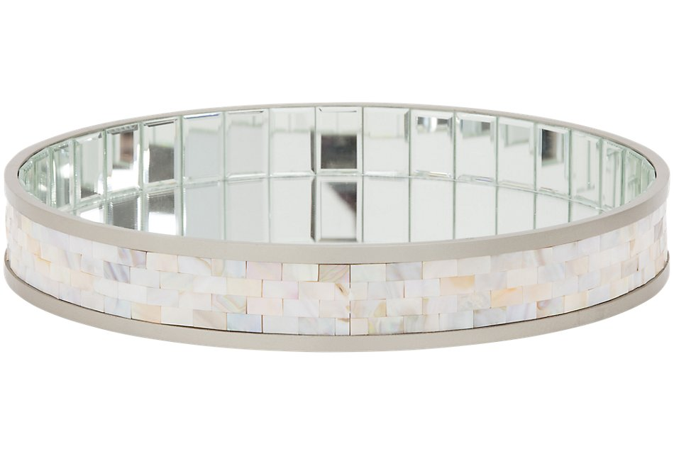 Maisie Silver Mirrored Tray