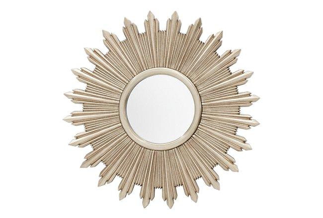 Flare Dark Gold Mirrored Mirror