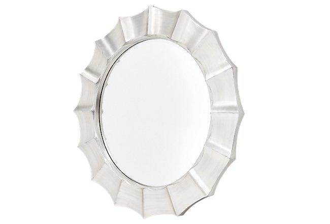 Alegra Silver Mirrored Mirror