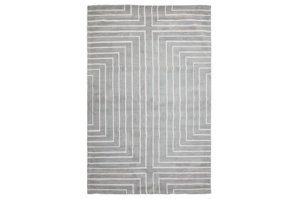 Linea Gray Microfiber 8x10 Area Rug