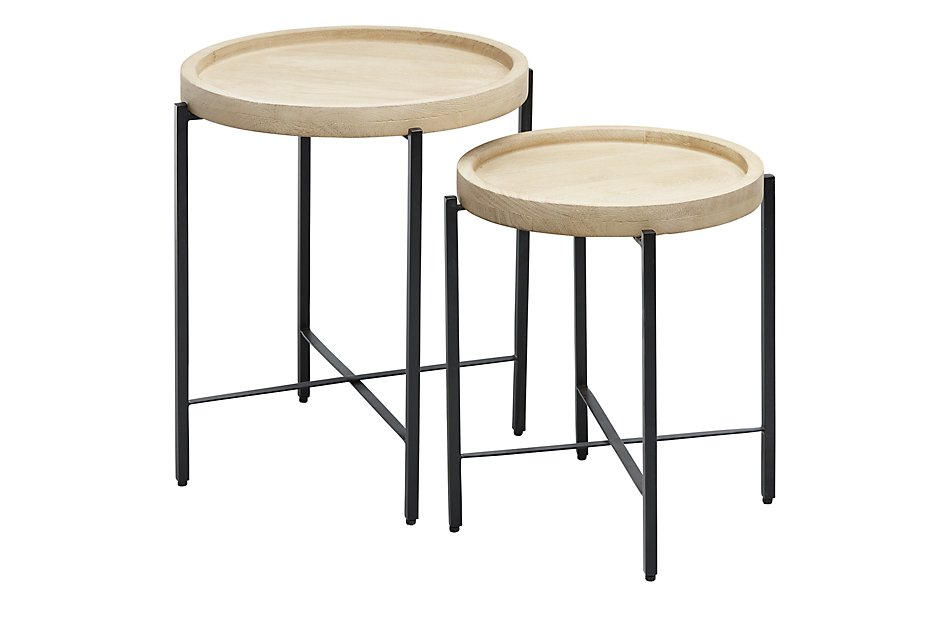 Farida Stone Set Of 2 Accent Table