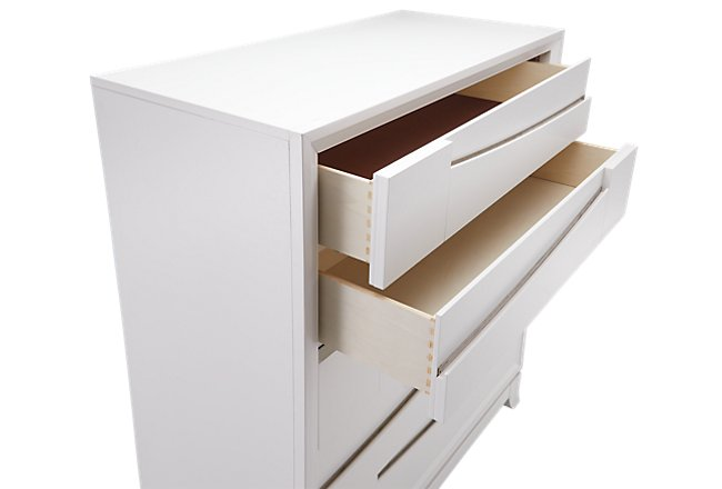 Imperial White Wood 5-drawer Chest