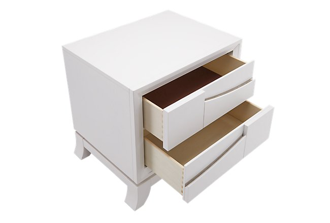 Imperial White Wood Nightstand