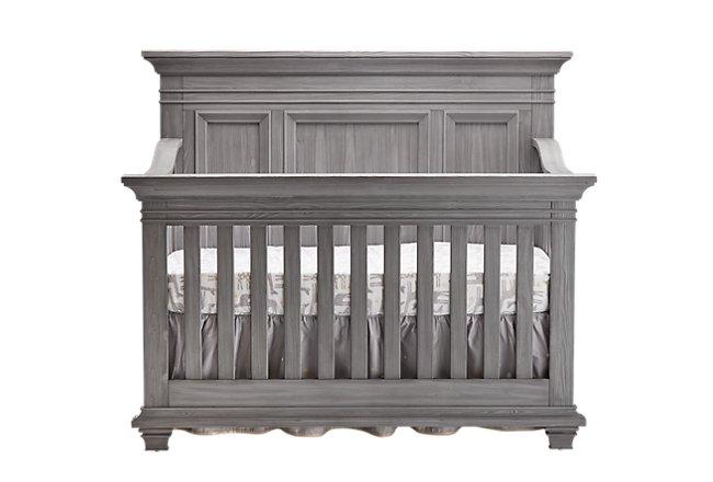 Westport Light Gray Wood 4-in-1 Crib