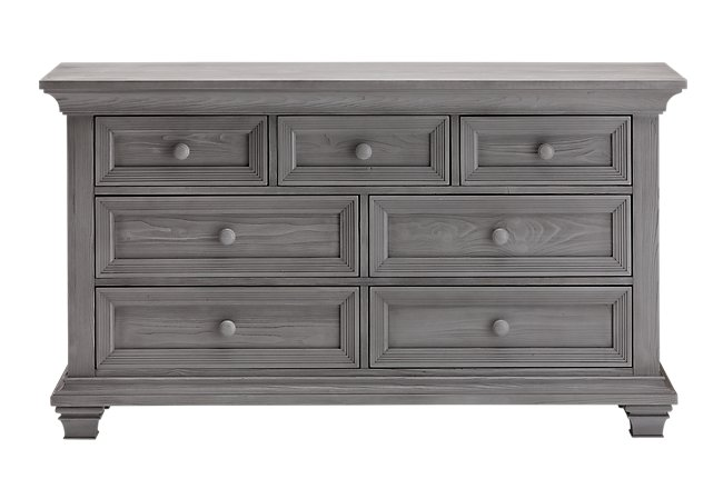 Westport Light Gray Wood Dresser