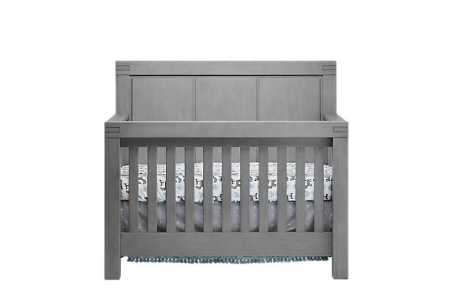 Piermont Gray Wood 4-in-1 Crib