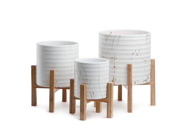 Kyle Ceramic Set Of 3 Planter