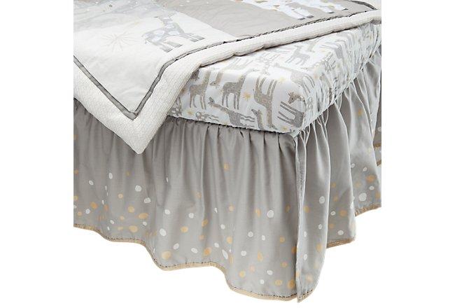 Moonbeams Light Gray Crib Bedding Set