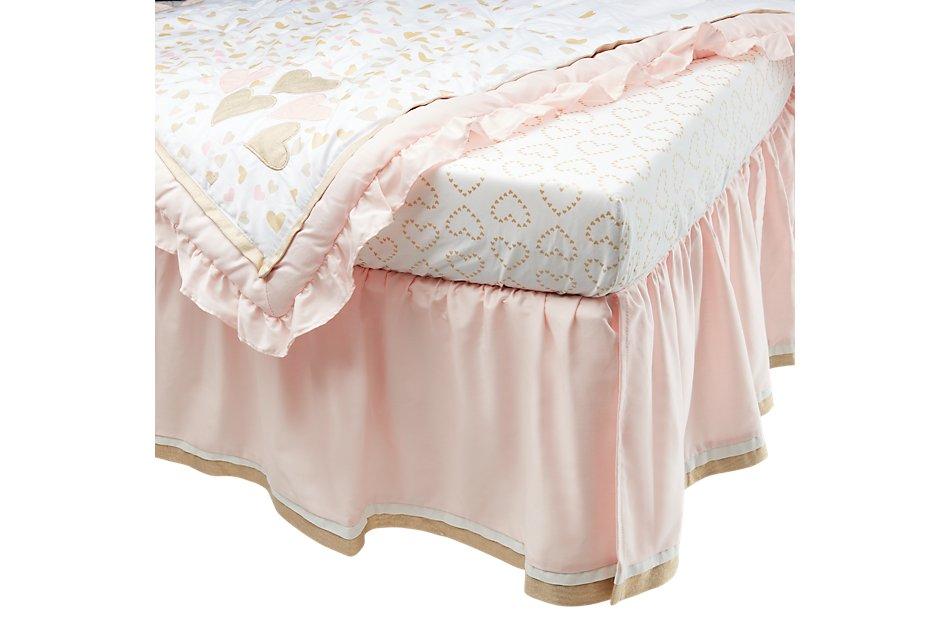 Confetti Light Gold  4 Piece Crib Bedding Set