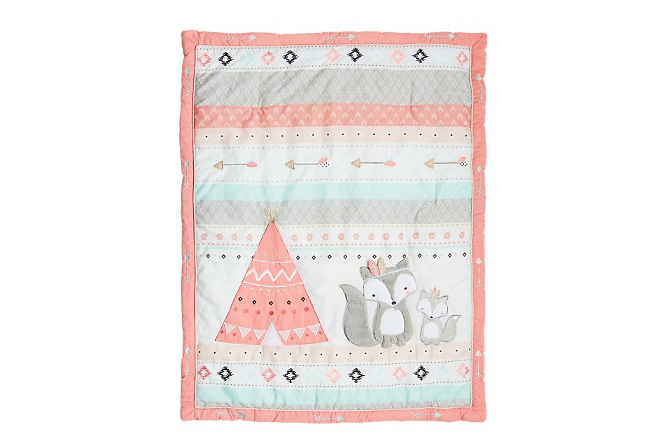 Spirit Pink 3 Piece Crib Bedding Set