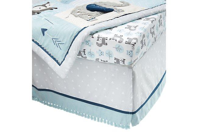 Wild Gray Crib Bedding Set