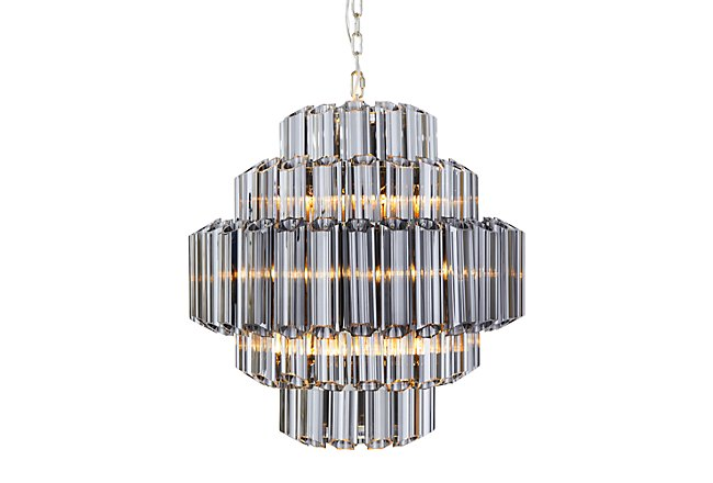 Camryn Black Glass Chandelier