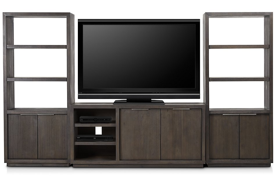 Madden Dark Tone Small Entertainment Wall