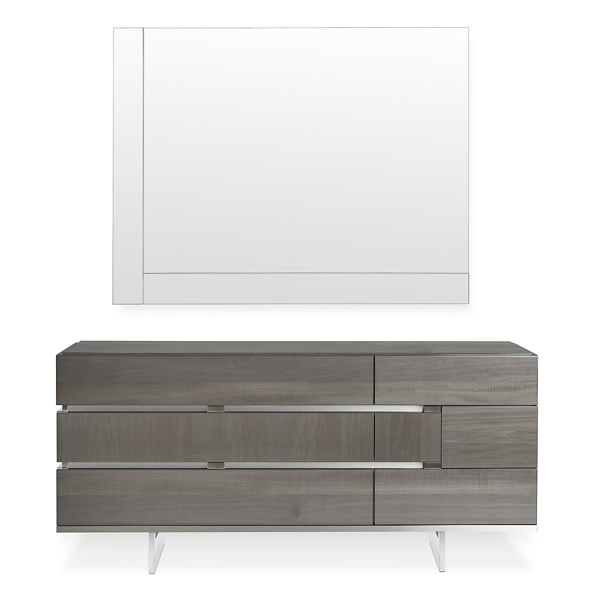 Athena Dark Gray Wood Dresser Mirror Bedroom Dressers Mirrors City Furniture