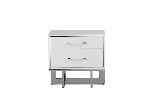 Cortina White Wood Nightstand