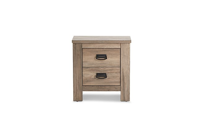 Shelton Light Tone Wood Nightstand