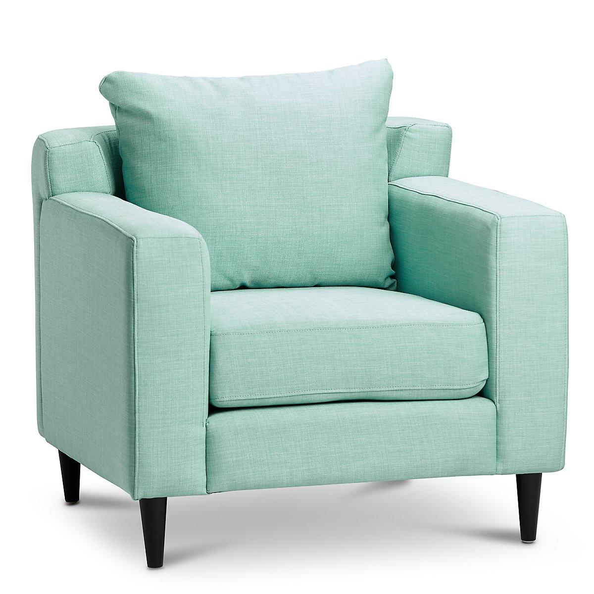 Novara Light Blue Fabric Accent Chair | Living Room ...