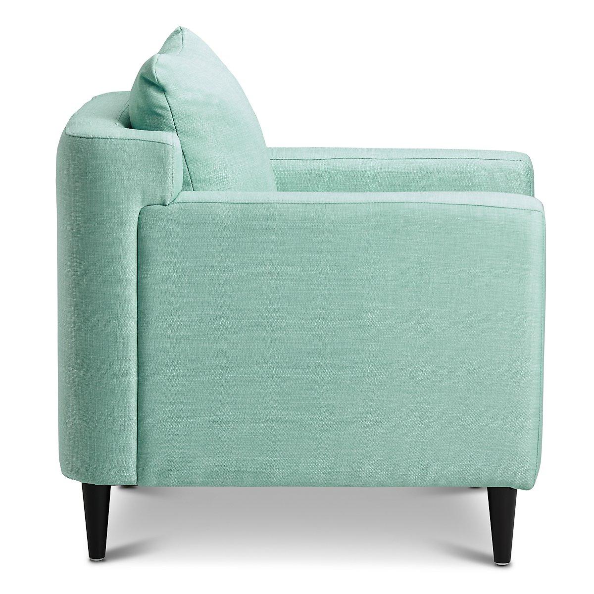 Prato Fabric Accent Chair Blue: Novara Light Blue Fabric Accent Chair