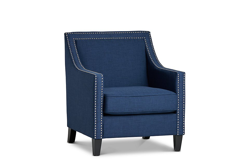Erica Blue Fabric Accent Chair | Living Room - Accent Chairs ...