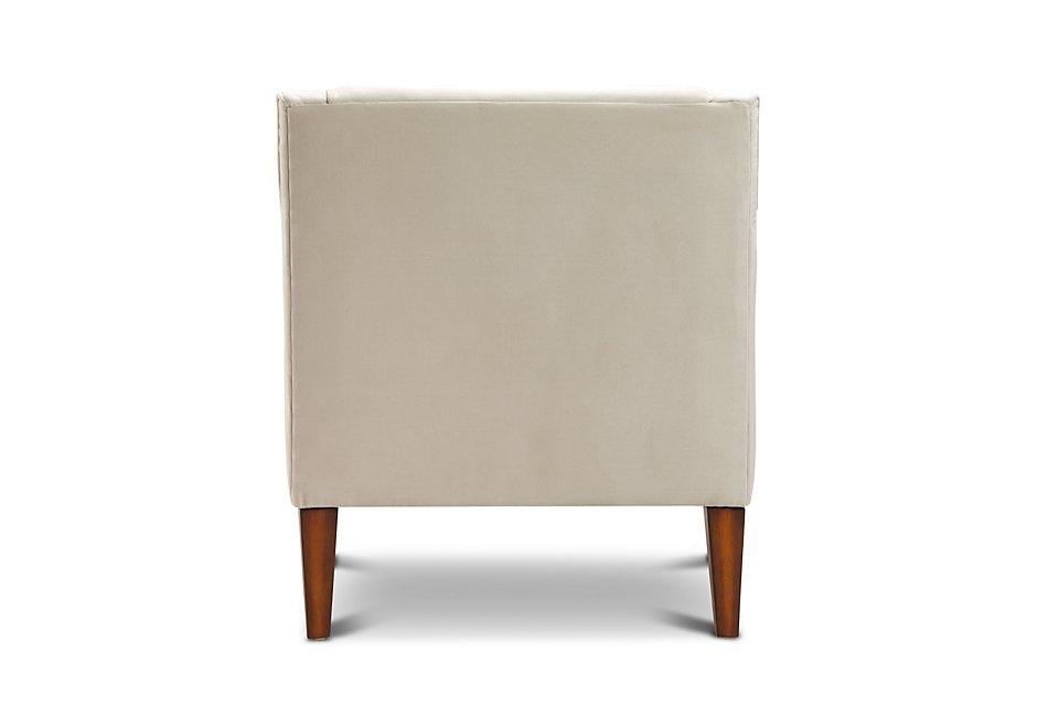 Astounding Dawson Light Beige Velvet Accent Chair Machost Co Dining Chair Design Ideas Machostcouk