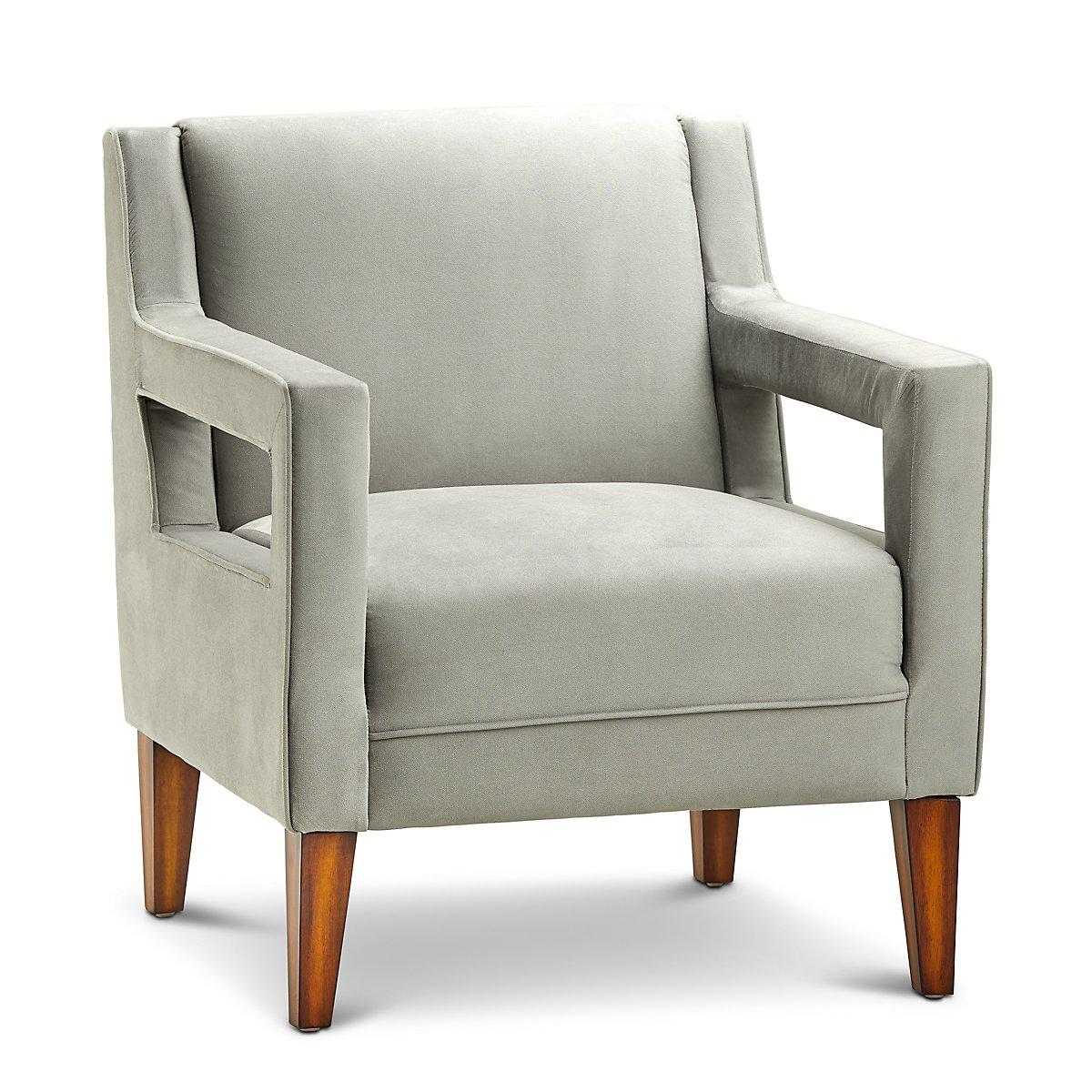 Dawson Light Gray Velvet Accent Chair