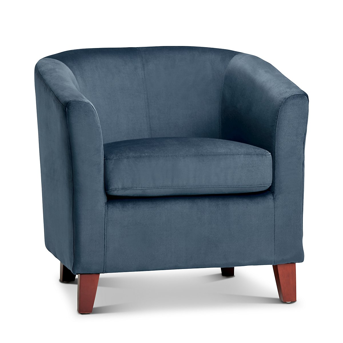 Concord Dark Blue Velvet Accent Chair Living Room Accent Chairs