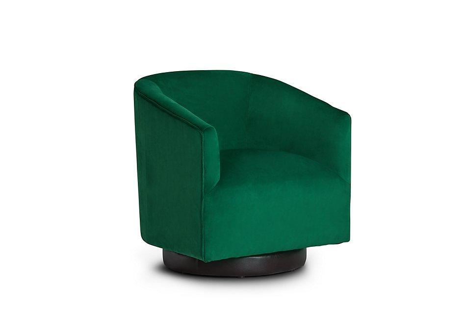 Swell Charlotte Dark Green Velvet Swivel Accent Chair Living Unemploymentrelief Wooden Chair Designs For Living Room Unemploymentrelieforg