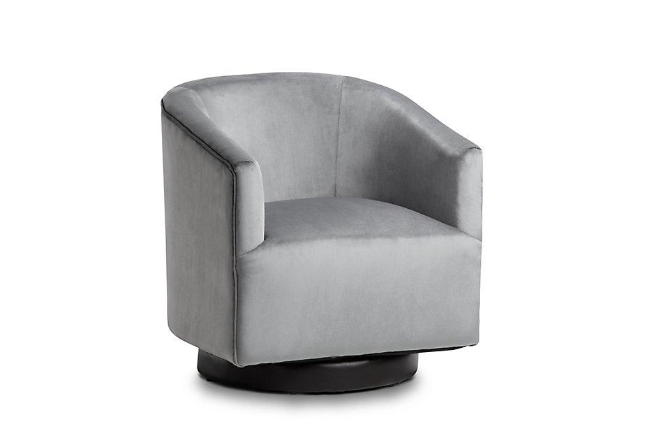 Swell Charlotte Dark Gray Velvet Swivel Accent Chair Sale Ibusinesslaw Wood Chair Design Ideas Ibusinesslaworg