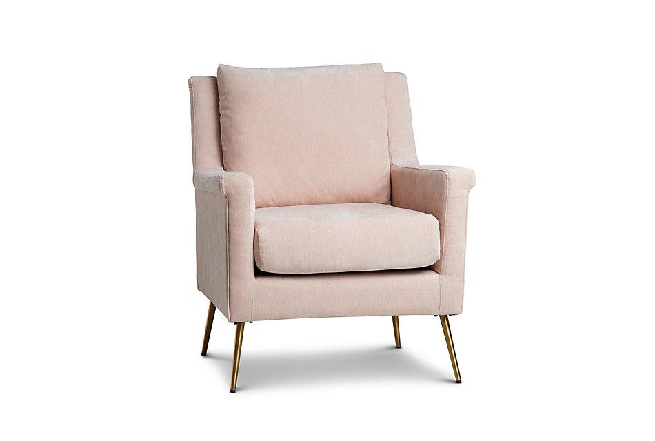 Cambridge Light Pink Velvet Accent Chair | Living Room ...