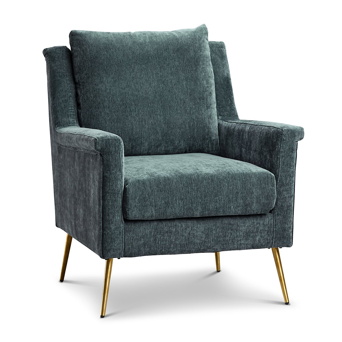 Cambridge Gray Velvet Accent Chair Living Room Accent Chairs