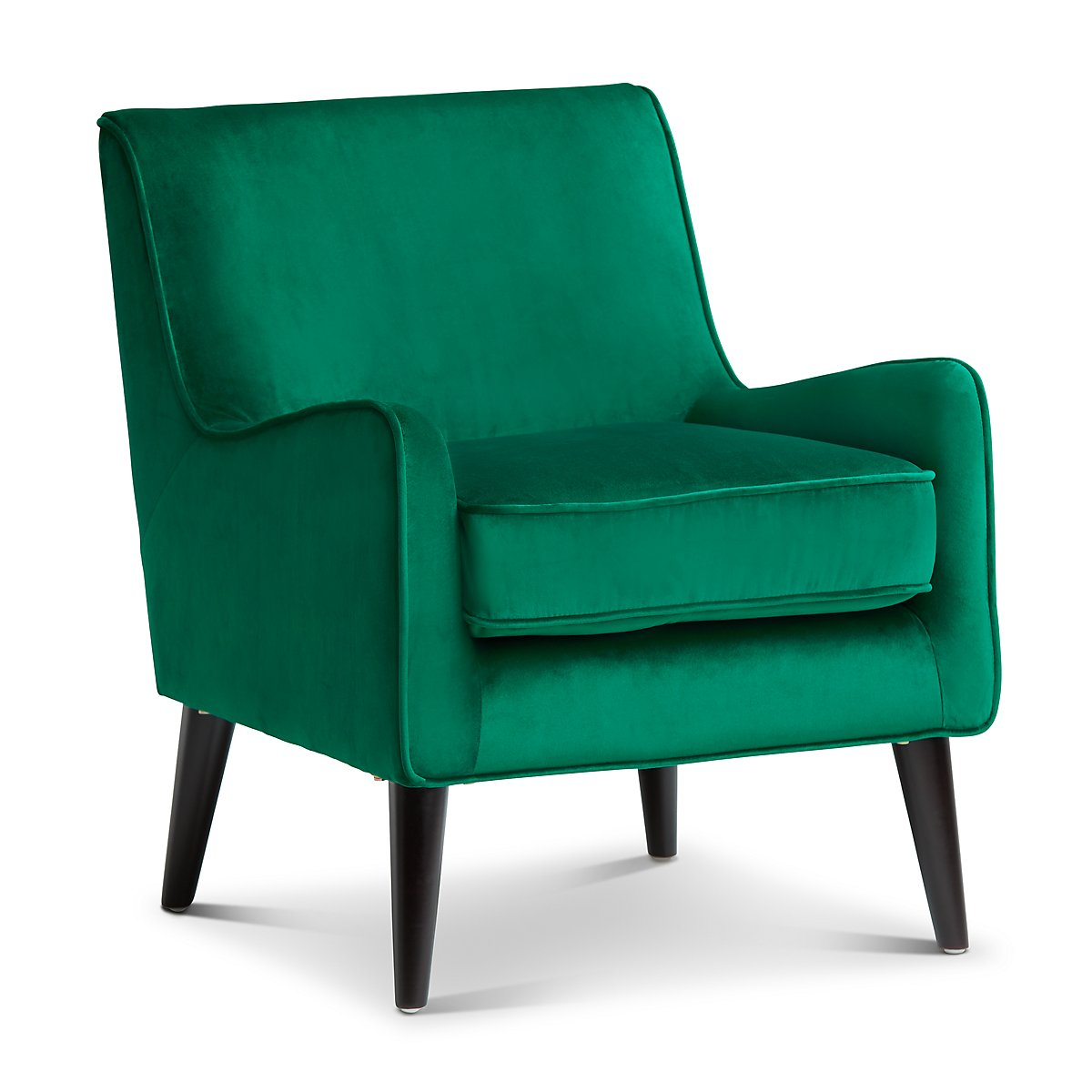 Angie Dark Green Velvet Accent Chair