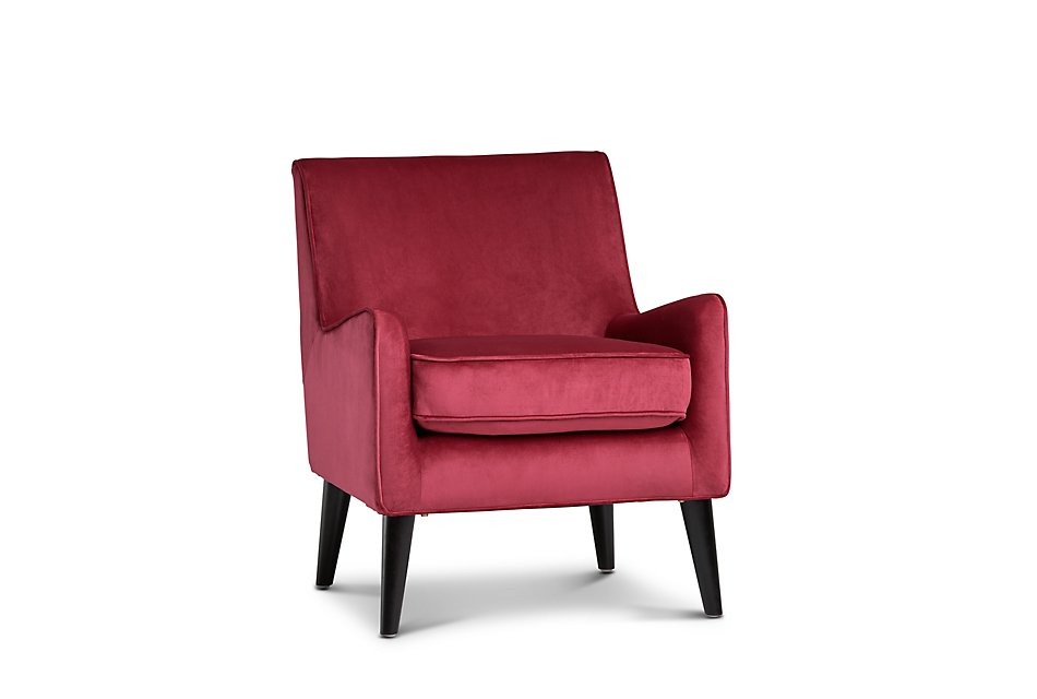 Angie Red Velvet Accent Chair   Living Room - Accent Chairs ...