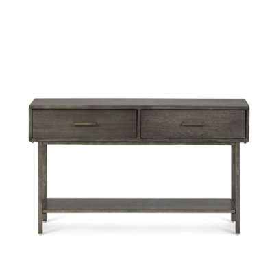 Fulton Dark Tone Wood Storage Sofa Table ...