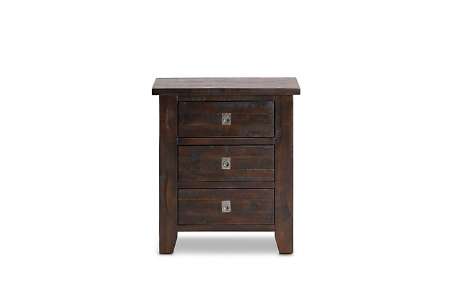 Kona Grove Dark Tone Wood Nightstand