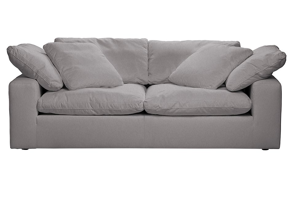 Nixon Light Gray Fabric Sofa