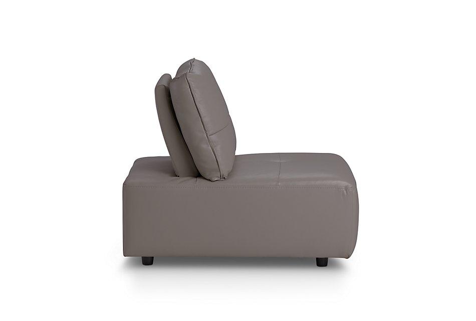 Trice Gray Lthr/vinyl Armless Chair