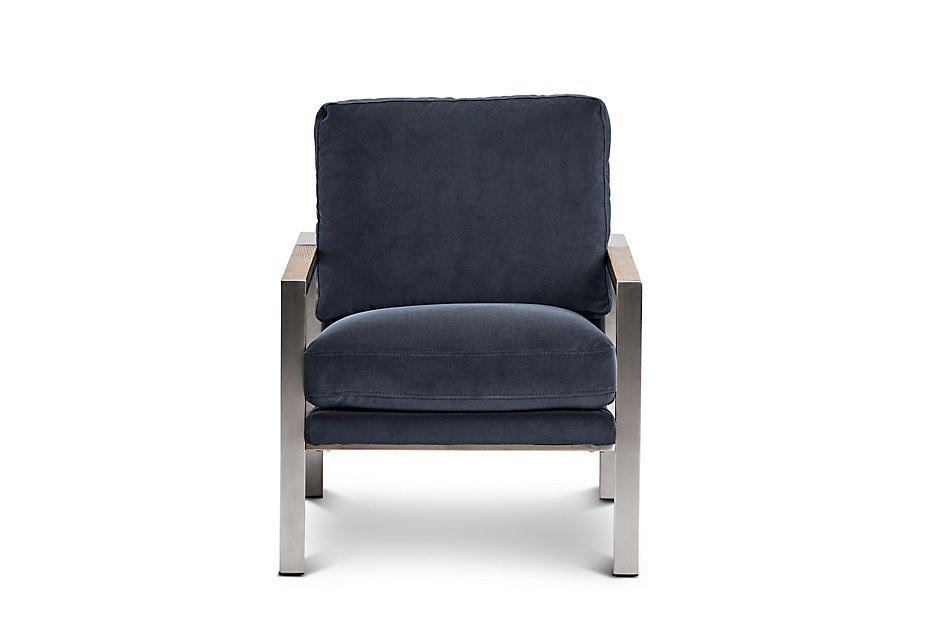 Super Wyatt Dark Gray Velvet Accent Chair Living Room Accent Machost Co Dining Chair Design Ideas Machostcouk