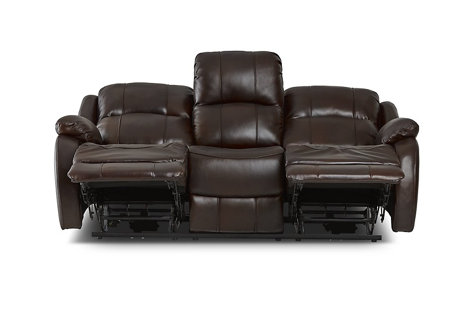 Dalton Medium Brown Lthr/vinyl Reclining Sofa