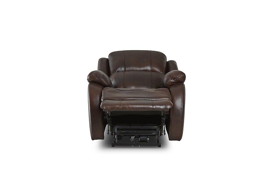 Wondrous Dalton Medium Brown Lthr Vinyl Power Recliner Living Room Customarchery Wood Chair Design Ideas Customarcherynet