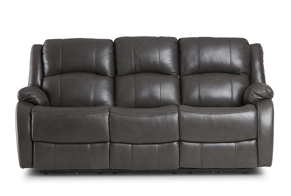 Miraculous Dalton Dark Gray Lthr Vinyl Power Reclining Sofa Living Pdpeps Interior Chair Design Pdpepsorg