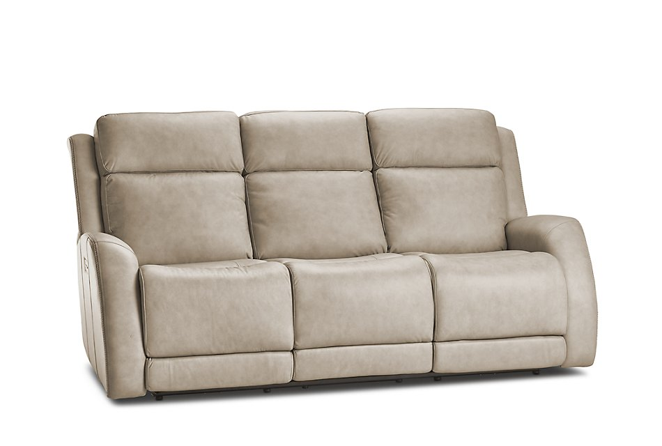 Peachy Rawlings Taupe Leather Power Reclining Sofa Living Room Lamtechconsult Wood Chair Design Ideas Lamtechconsultcom