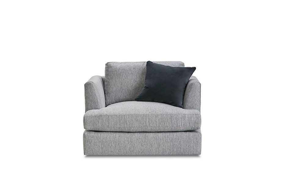 Pleasing Sydney Gray Fabric Swivel Chair Living Room Chairs Bralicious Painted Fabric Chair Ideas Braliciousco