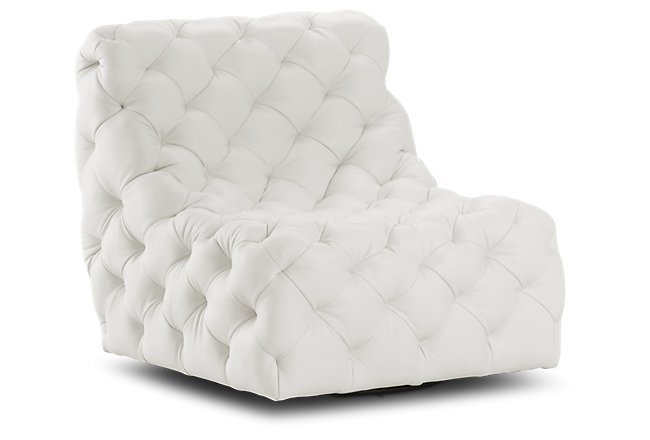 Awesome Frankie White Swivel Accent Chair Home Accents Accent Pdpeps Interior Chair Design Pdpepsorg