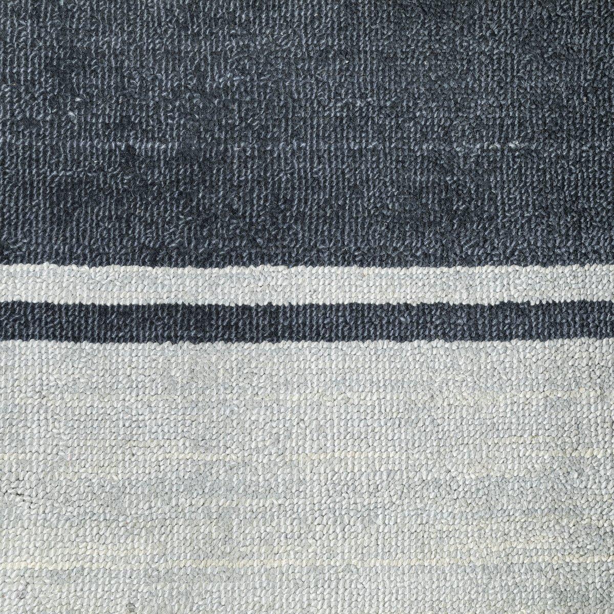 Tundra Dark Blue Wool 8x11 Area Rug