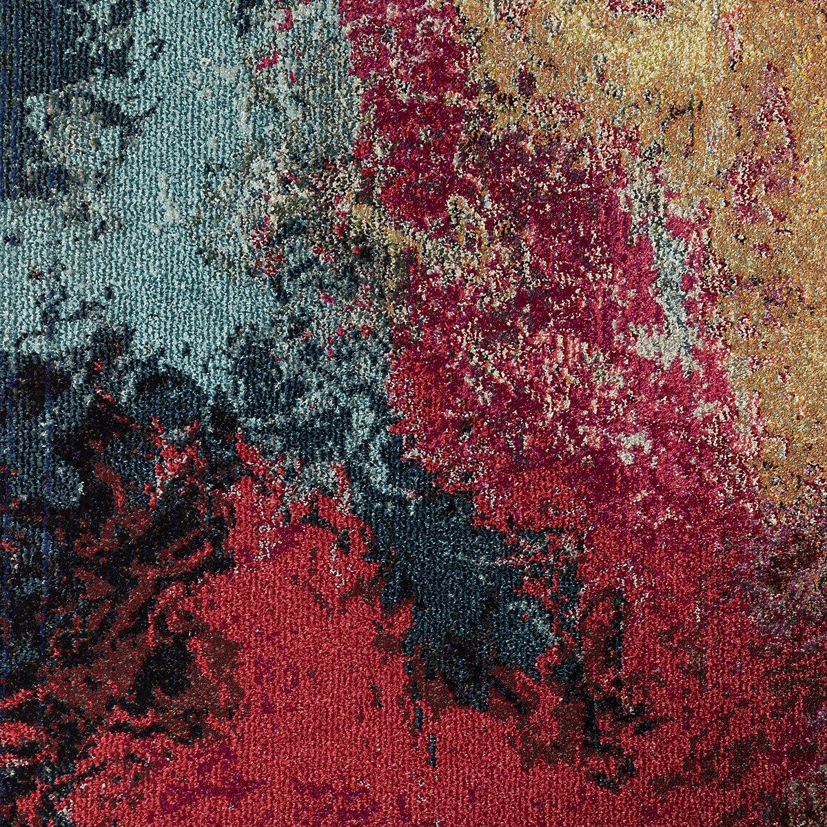 Palt Multicolored Poly 5x8 Area Rug