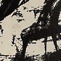Abstract Black 8x11 Area Rug