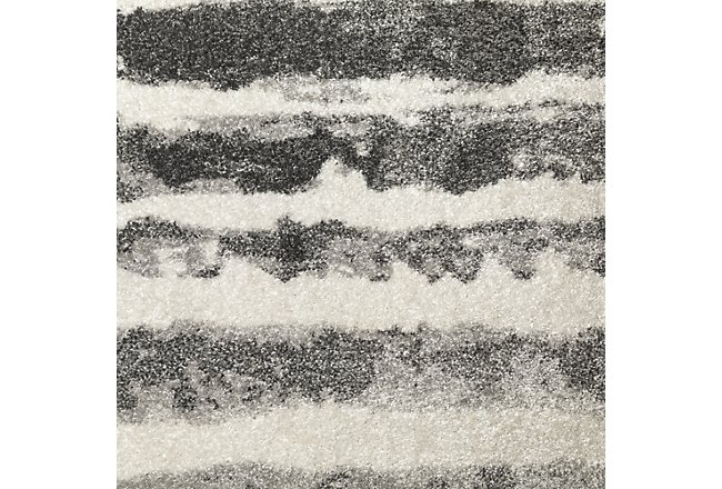 Focus Gray Poly 5x8 Area Rug