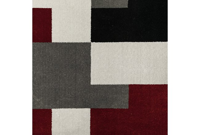 Tetris Multicolored Poly 5x8 Area Rug