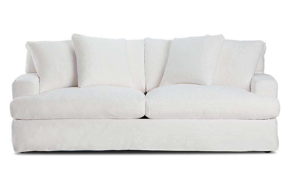 Terrific Delilah White Fabric Sofa Living Room Sofas City Furniture Machost Co Dining Chair Design Ideas Machostcouk